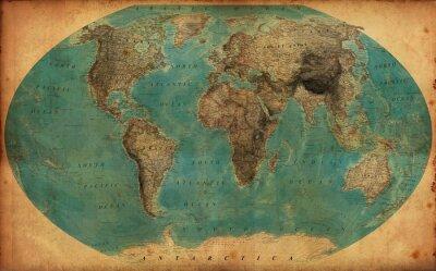 Vinilo Mapa vintage
