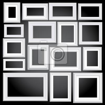 Marcos blancos de pared negro vinilos para portátiles • vinilos para ...