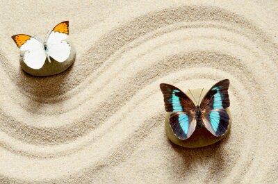 Vinilo Mariposa en la arena