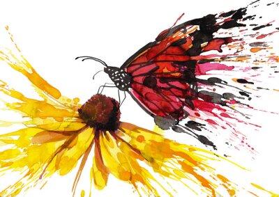 Vinilo Mariposa en la flor