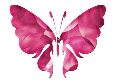 Vinilo Mariposa púrpura / Mariposa hermosa