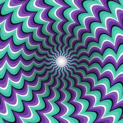 Vinilo Meandering tiras de embudo. Agujero giratorio. Motley movimiento de fondo. Ilustración de la ilusión óptica.