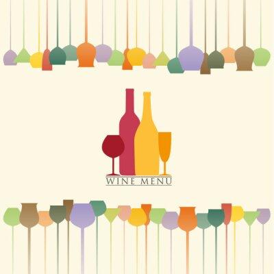 Vinilo Menú de vinos