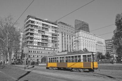 Vinilo Milano e tram en lombardia italia milan y tren en milan italia