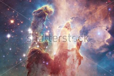Vinilo Millas de millones de galaxias en el universo. Fondo abstracto del espacio. Elementos de esta imagen especificados por la NASA.