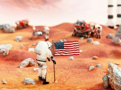 Vinilo Misión tripulada de Marte