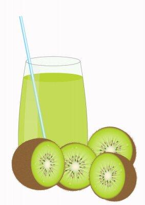 Vinilo Mitades de zumos de frutas y Kiiwi Kiwi
