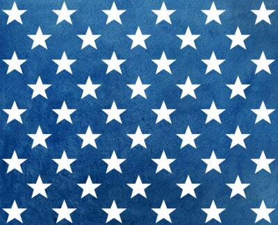 Vinilo Modelo azul marino abstracto de la acuarela con las estrellas blancas.