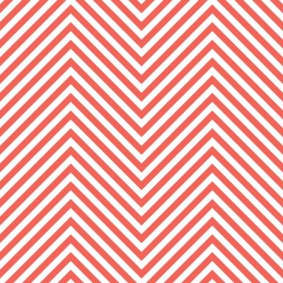 Vinilo Modelo Del Rojo Del Zigzag. Ola de fondo en el vector