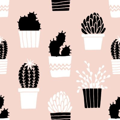 Vinilo Modelo dibujado a mano del cactus