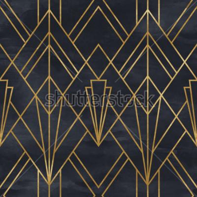 Vinilo Modelo geométrico específico en la textura de papel. Fondo Art Deco