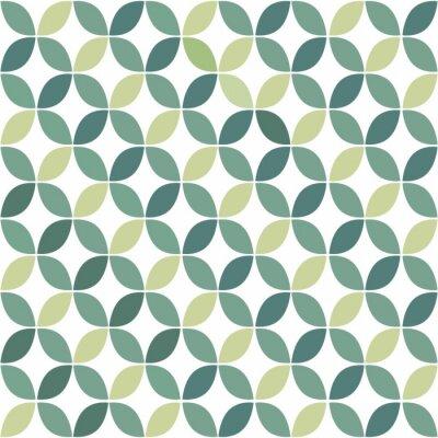 Vinilo Modelo geométrico inconsútil retro verde
