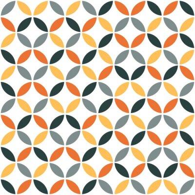 Vinilo Modelo geométrico retro anaranjado inconsútil