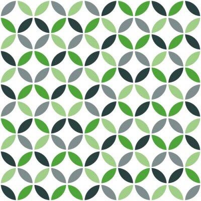 Vinilo Modelo geométrico retro verde inconsútil