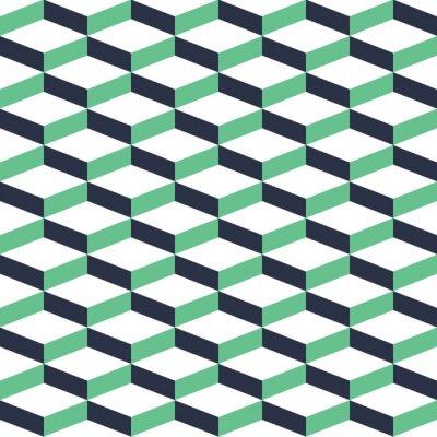 Vinilo Modelo inconsútil de la ilusión geométrica de la turquesa