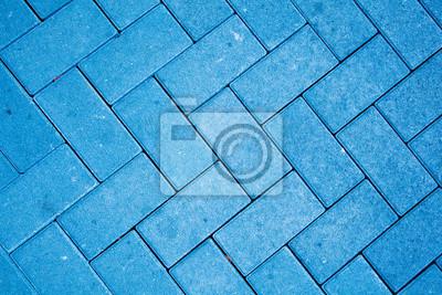 vinilo modelo pavimento hecho con bloques de hormign colado en color azul with modelos de bloques de hormigon