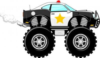 Monstertruck 4x4 polica de dibujos animados de coches vinilos