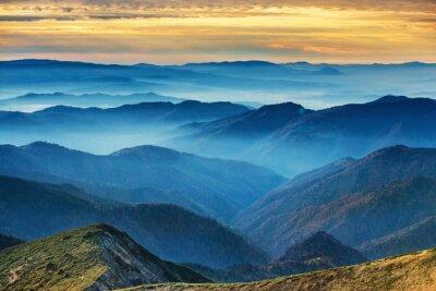 Vinilo Montañas y colinas azules