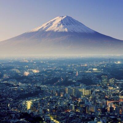 Vinilo Monte Fuji. Fujiyama. Vista aérea con cityspace tiro surrealista. J