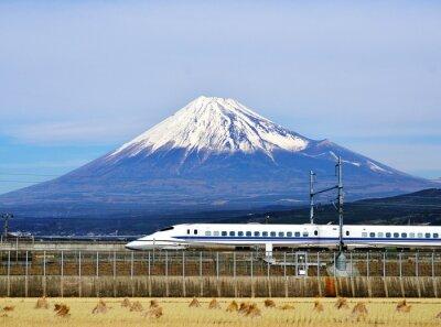 Vinilo Monte Fuji y el tren bala