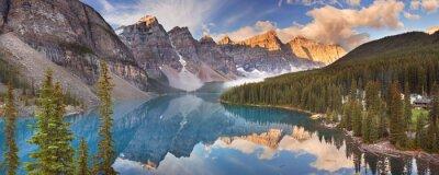 Vinilo Moraine Lake al amanecer, Parque Nacional Banff, Canadá