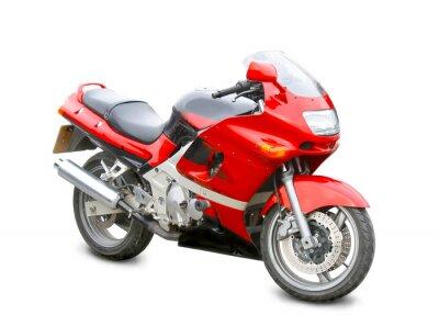Vinilo motocicleta aislado