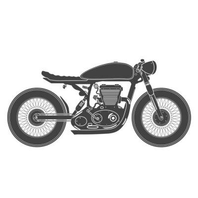 Vinilo Motocicleta del vintage. Café racer tema