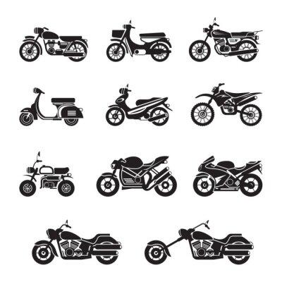 Vinilo Motociclistas, ciclistas y Negro blanco, Silueta