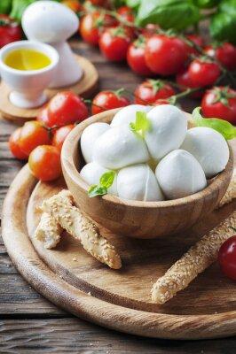 Vinilo Mozzarella italiana con tomate y albahaca