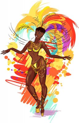 Vinilo Mujer bailarina de samba