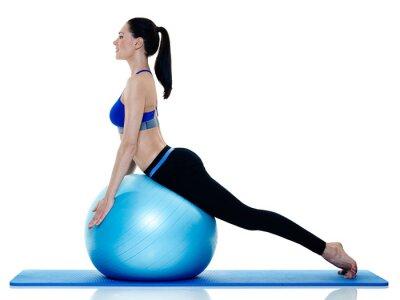 Vinilo Mujer fitness pilates ejercicios aislados