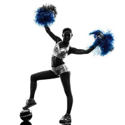 Vinilo mujer joven cheerleader silhouette