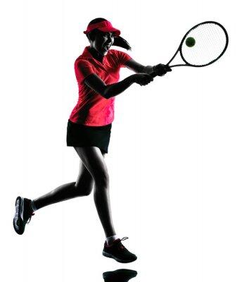 Vinilo Mujer jugador de tenis silueta tristeza
