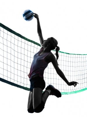 Vinilo Mujer jugadores de voleibol aislado silueta