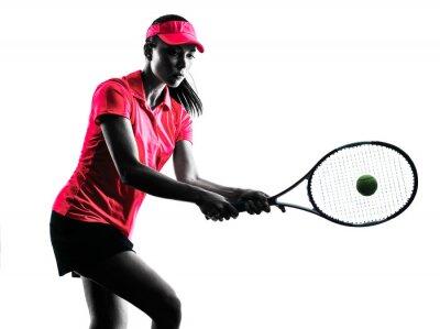 Vinilo Mujer tenista tristeza silueta
