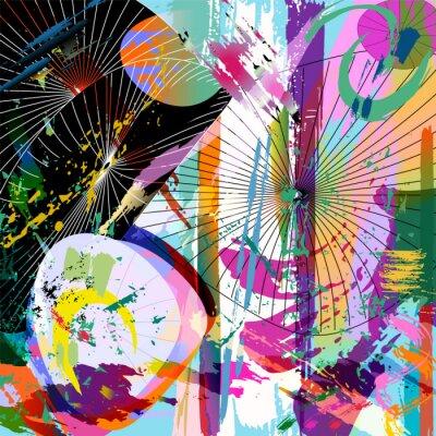 Vinilo multicolored abstract composition, vector format