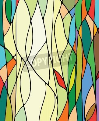 Vinilo Multicolored stained glass