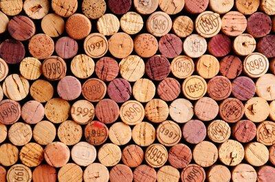 Vinilo Muralla de Corchos del vino