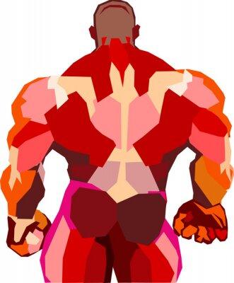 Vinilo Muscular bodybuilder in a gym