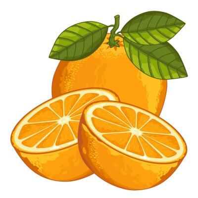 Vinilo Naranja aislado sobre fondo blanco.