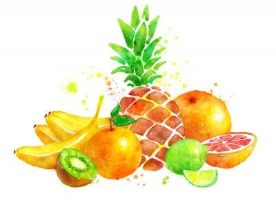 Vinilo Naturaleza muerta con frutas.