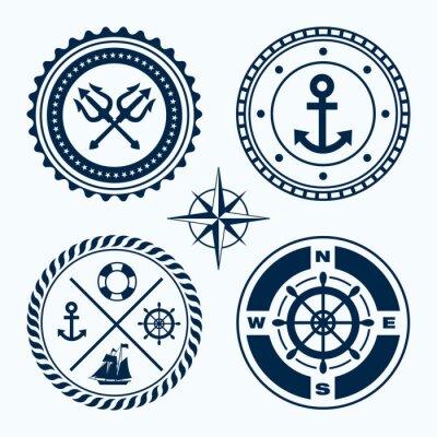 Vinilo Nautical Emblems