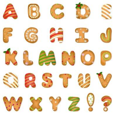 Vinilo Navidad Galleta de jengibre alfabeto