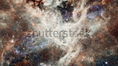 Vinilo Nebulosa noche cielo estrellado en colores. Espacio exterior multicolor. Espacio profundo a muchos años luz lejos del planeta Tierra. Elementos de esta imagen proporcionada por la NASA.