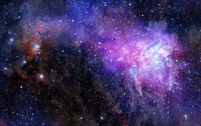 Vinilo nebulosa nube de gas en el espacio exterior profundo