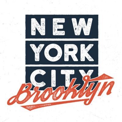 Vinilo New York City Brooklyn - Diseño de la camiseta para imprimir