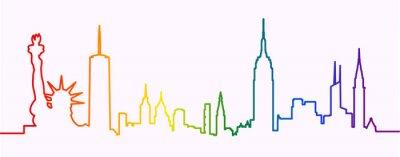 Vinilo New York City Gay-Friendly Skyline Profile