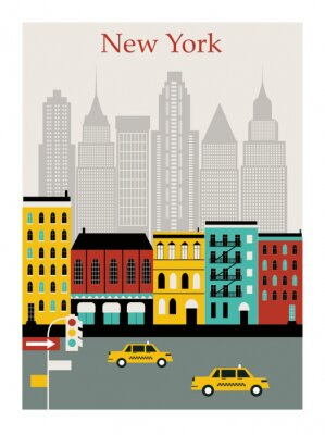 Vinilo New York city. Vector