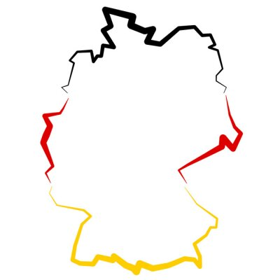 Vinilo Niemcy - mapa