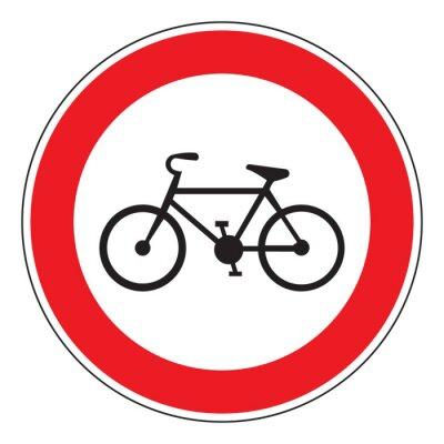 Vinilo Ninguna bicicleta permitida signo